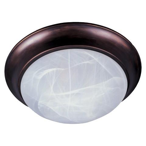 "Essentials 3-Light Flush Mount 16.5""  - Oil Rubbed Bronze"