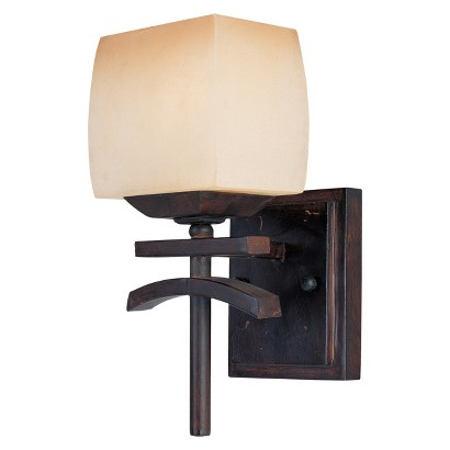 "Asiana 1-Light Wall Sconce 5.5"" - Roasted Chestnut"