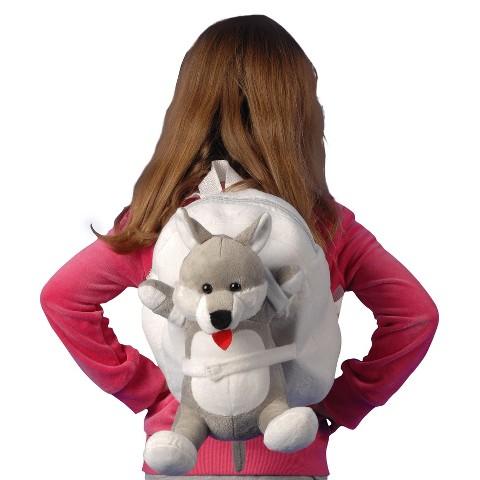 Tag Along Teddy Plush Dog Backpack