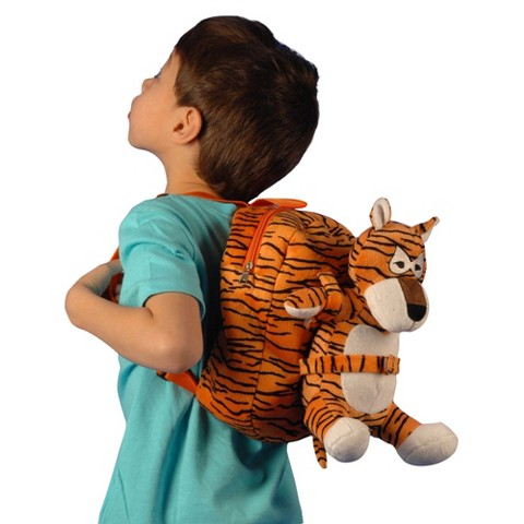 Tag Along Teddy Plush Tiger Backpack