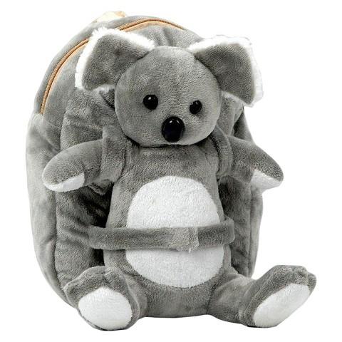 Tag Along Teddy Plush Koala Backpack, Small