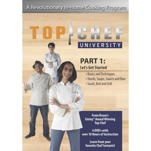 TOP CHEF UNIVERSITY PART 1: LET'S GET STARTED (EXCLUSIVE) Dvd Video (4-Discs)