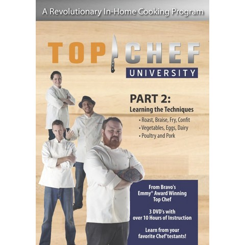 TOP CHEF UNIVERSITY PART 2: LEARNING THE TECHNIQUES (EXCLUSIVE) Dvd Video (3-Discs)