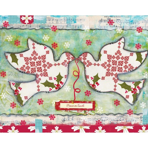 Christmas Cards - Peace on Earth Doves