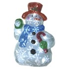 Battery Operated White LED Snowman Lawn Decoration