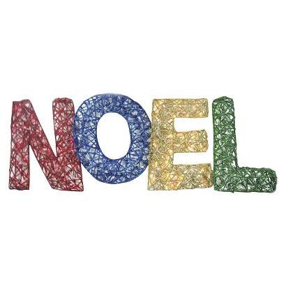 150lt Spun Glitter Noel Silhouette