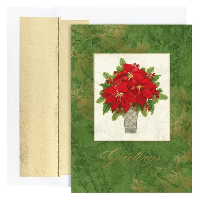 Bouquet of Poinsettias 36 ct Boxed Cards