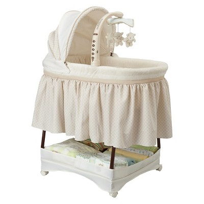 Simmons Kids Elite Gliding Bassinet - Espresso Latte