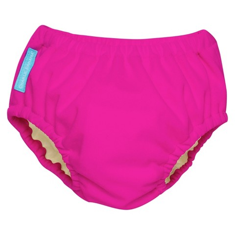 Charlie Banana Reusable Swim Diaper & Training Pant - Hot Pink (Select Size)
