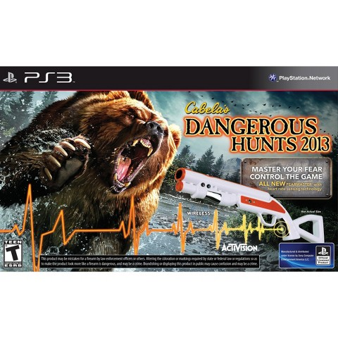 Cabela's Dangerous Hunts 2013 Game with Gun for PS3