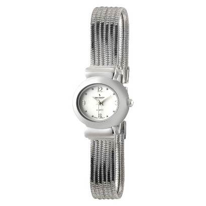 Peugeot Women's Jewelry Strand Bracelet Watch - Silver