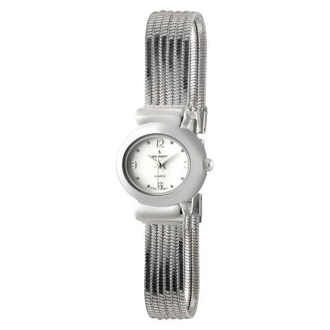 Peugeot Women's Jewelry Strand Bracelet Watch - Silver