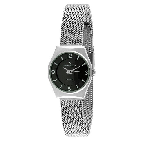 Peugeot Women's Mesh Bracelet Watch - Silver