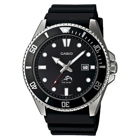 Men's Casio Dive-Style Watch – Black (MDV106-1A)