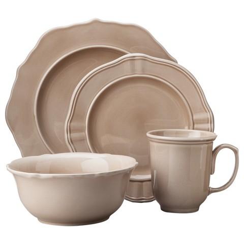Threshold™ 16 Piece Wellsbridge Dinnerware Set - Latte