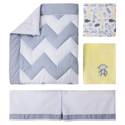 Circo® 4pc Crib Bedding Set - Zigs 'n Zags