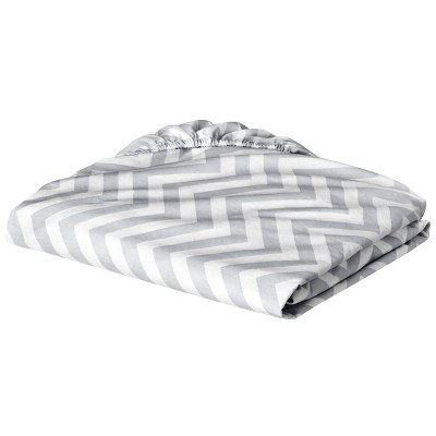 Circo® Woven Fitted Crib Sheet - Chevron - Gray