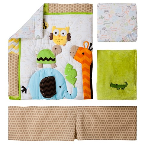Circo® 4pc Crib Bedding Set - Jungle Stack