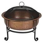 Contemporary Round Fire Pit - Copper
