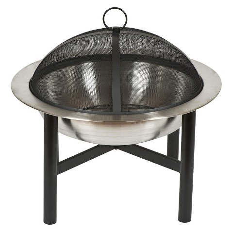 Contemporary Round Fire Pit -Steel