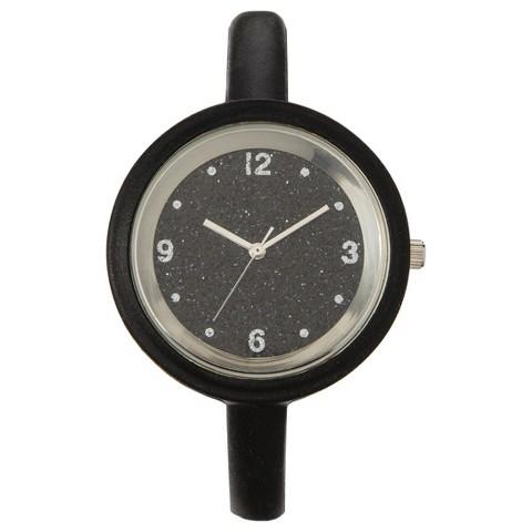 Xhilaration® Skinny Silicone Watch - Black