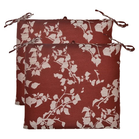 2-Piece Outdoor Seat Cushion Set - Red Floral - Threshold™