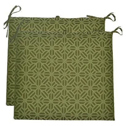 Threshold™ 2-Piece Outdoor Seat Cushion Set - Green Geometric