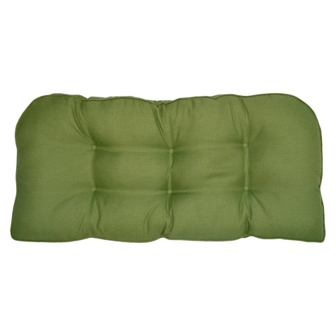 Smith & Hawken® Outdoor Settee Cushion - Green Textured