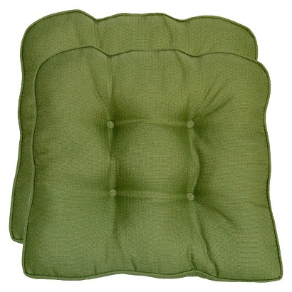 Smith & Hawken® 2-Piece Outdoor Seat Cushion Set - Green Textured