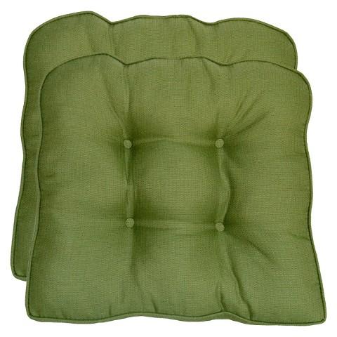 Smith & Hawken® 2-Piece Outdoor Seat Cushion Set - Green Textured