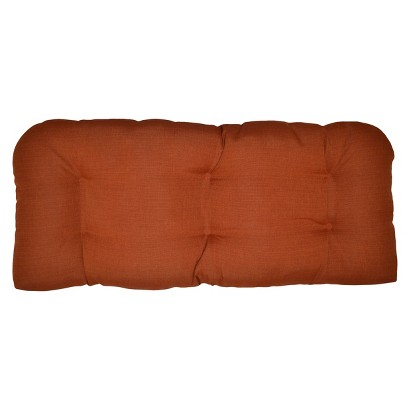 Threshold™ Outdoor Wicker Settee Cushion -  Orange Textured