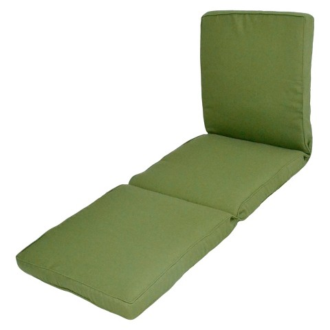 Smith & Hawken® Outdoor Chaise Lounge Cushion - Green Textured