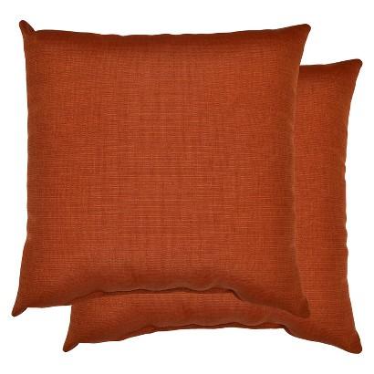 Threshold™ 2-Piece Outdoor Decorative Throw Pillow Set -  Orange Textured