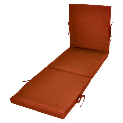 Threshold™ Outdoor Chaise Lounge Cushion - Orange Textured