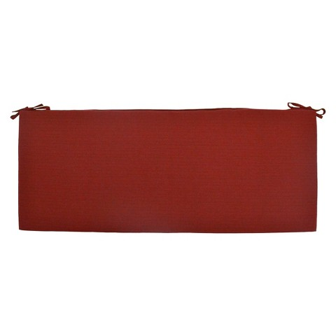 Threshold™ Outdoor Bench Cushion - Red Textured