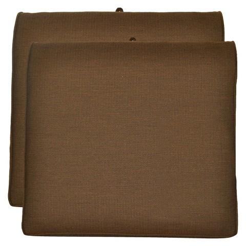 Smith & Hawken® 2-Piece Outdoor Seat Cushion Set- Espresso