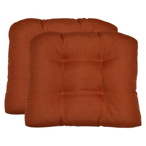 Threshold™ 2-Piece Outdoor  Wicker Chair Cushion Set -  Orange Textured
