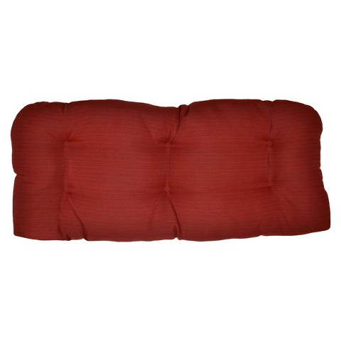 Threshold™ Outdoor Wicker Settee Cushion - Red Textured