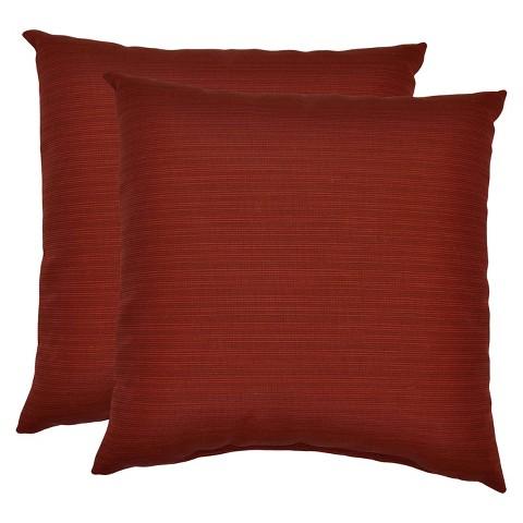 Threshold™ 2-Piece Outdoor Decorative Throw Pillow Set - Red Textured