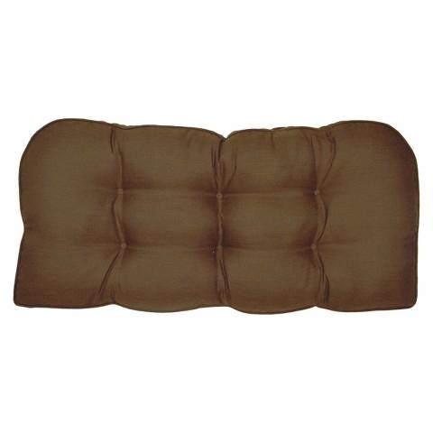 Smith & Hawken® Outdoor Settee Cushion - Espresso