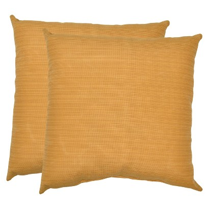 Threshold™ 2-Piece Outdoor Decorative Throw Pillow Set - Yellow Textured