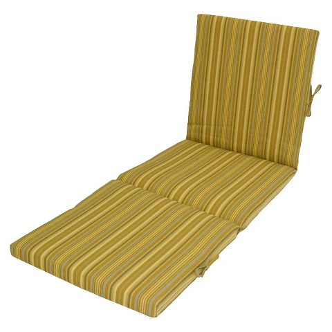 Threshold™ Outdoor Chaise Lounge Cushion - Yellow Stripe