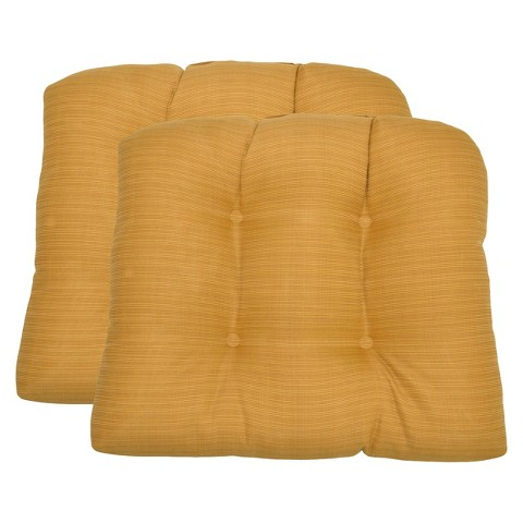 Threshold™ 2-Piece Outdoor  Wicker Chair Cushion Set - Yellow Textured