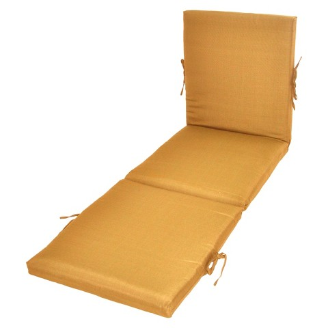 Threshold™ Outdoor Chaise Lounge Cushion - Yellow Textured