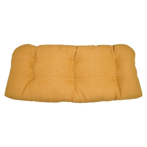 Threshold™ Outdoor Wicker Settee Cushion - Yellow Textured