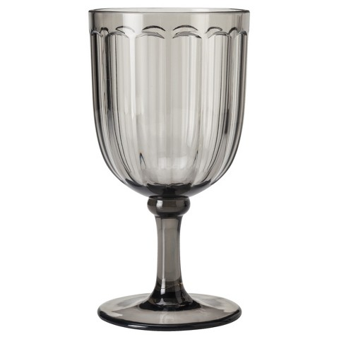 Threshold™ Panelled Ribbed Goblet Set of 8 - Gray