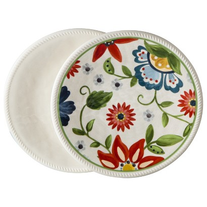 Threshold™ Roped Vasaio Appetizer Plate Set of 8 - Floral/Cream