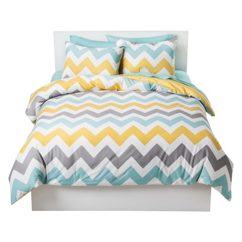 Chevron Duvet Cover Set Multicolored - Room Essentials™