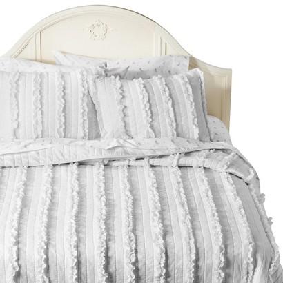 Simply Shabby Chic® Ruffle Quilt - White