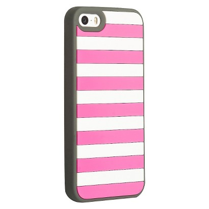 Agent18 Stripe Vest Case for iPhone®5 - Pink/White (P5STR/CG)